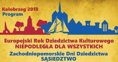 Zachodniopomorskie Dni Dziedzictwa SĄSIEDZTWO Kołobrzeg 2018
