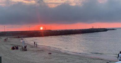 Wyjątkowy zachód słońca w Kołobrzegu [FOTO, FILM]