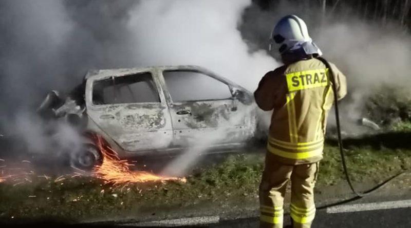 Pożar porzuconego samochodu [FOTO]